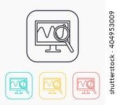 monitoring color icon set