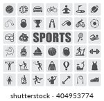 sports icons set | Shutterstock .eps vector #404953774
