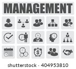management icons set | Shutterstock .eps vector #404953810