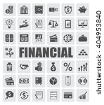 financial icons set | Shutterstock .eps vector #404953840