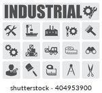 industrial icons set