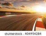 Motion Blurred Racetrack Golde...