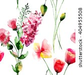 seamless wallpaper with flowers ... | Shutterstock . vector #404955508