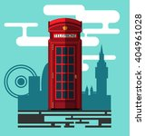 phone booth on city background... | Shutterstock .eps vector #404961028