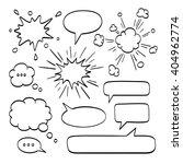 set of  speech bubbles. vector... | Shutterstock .eps vector #404962774