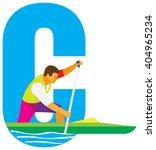 sports alphabet. letter c. canoe | Shutterstock .eps vector #404965234