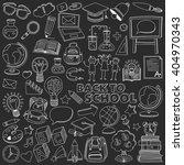 back to school doodle set.... | Shutterstock .eps vector #404970343