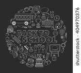 back to school doodle set.... | Shutterstock .eps vector #404970376
