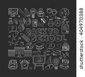back to school doodle set.... | Shutterstock .eps vector #404970388
