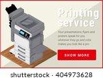 copier printer isometric flat...   Shutterstock .eps vector #404973628