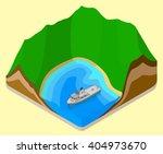 lagoon isometric. coastline... | Shutterstock .eps vector #404973670