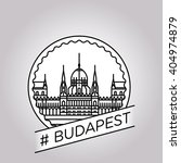 vector line budapest badge | Shutterstock .eps vector #404974879