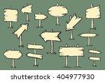 hand drawn doodle wooden road... | Shutterstock .eps vector #404977930