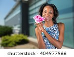 charming beautiful african... | Shutterstock . vector #404977966