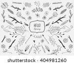 vector floral set. graphic... | Shutterstock .eps vector #404981260