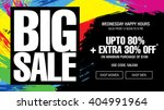 big sale banner template design | Shutterstock .eps vector #404991964