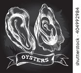 hand drawn oysters. vector... | Shutterstock .eps vector #404992984