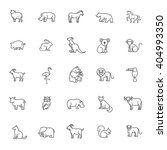 animal icons | Shutterstock .eps vector #404993350