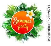 summer tropical label of palm... | Shutterstock .eps vector #404995756