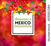 poster elements with spanish... | Shutterstock .eps vector #405001384