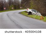 Crashed Car After Accident Int...