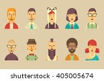 male and female vector avatars... | Shutterstock .eps vector #405005674