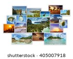 Tropic Photos Collage. Photo...