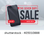 seven day sale banner. sale and ... | Shutterstock .eps vector #405010888