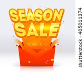 season sale poster illustration.... | Shutterstock .eps vector #405011374