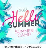 hello summer holiday and summer ... | Shutterstock .eps vector #405011380