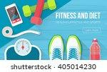 fitness  sport  diet and... | Shutterstock .eps vector #405014230