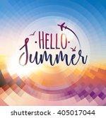 hello summer background. summer ...   Shutterstock .eps vector #405017044