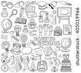 back to school doodle set.... | Shutterstock .eps vector #405019966