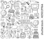 back to school doodle set....   Shutterstock .eps vector #405019966