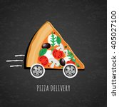 vector design for pizza... | Shutterstock .eps vector #405027100