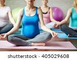 meditation for pregnant   Shutterstock . vector #405029608