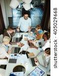 business seminar | Shutterstock . vector #405029668