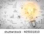 light bulb with drawing graph | Shutterstock . vector #405031810