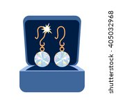 a pair of diamond earrings... | Shutterstock .eps vector #405032968