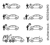 car problem story icon set... | Shutterstock .eps vector #405034690