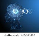 creative brain concept... | Shutterstock .eps vector #405048496
