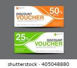 discount voucher template ... | Shutterstock .eps vector #405048880