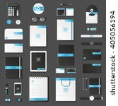 corporate identity template set.... | Shutterstock .eps vector #405056194
