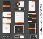 corporate identity template set.... | Shutterstock .eps vector #405056209