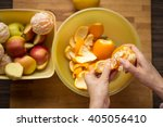 preparing fruits for breakfast | Shutterstock . vector #405056410