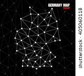 Abstract Polygonal Germany Map...
