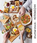 brunch choice dining food... | Shutterstock . vector #405060244
