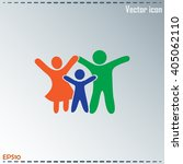 happy family icon in simple... | Shutterstock .eps vector #405062110
