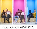 group of young business people... | Shutterstock . vector #405063319