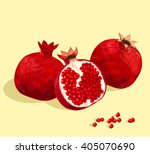 pomegranate fruit | Shutterstock .eps vector #405070690